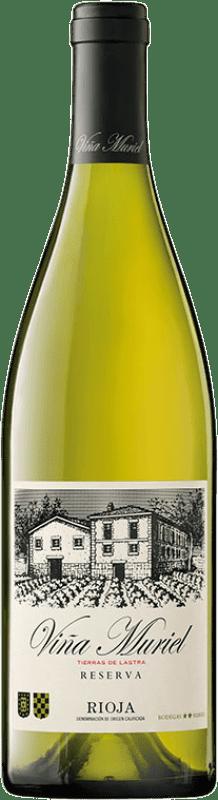 11,95 € Free Shipping | White wine Muriel Viña Muriel Reserva D.O.Ca. Rioja The Rioja Spain Viura Bottle 75 cl