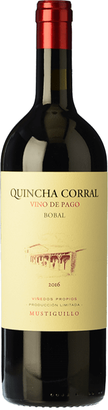 85,95 € Free Shipping | Red wine Mustiguillo Quincha Corral Crianza D.O.P. Vino de Pago El Terrerazo Valencian Community Spain Bobal Bottle 75 cl