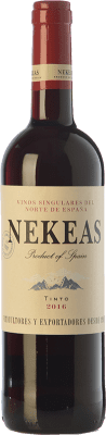 5,95 € Free Shipping | Red wine Nekeas Tempranillo-Merlot Joven D.O. Navarra Navarre Spain Tempranillo, Merlot Bottle 75 cl