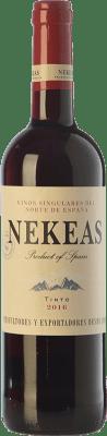 4,95 € Envío gratis | Vino tinto Nekeas Tempranillo-Merlot Joven D.O. Navarra Navarra España Tempranillo, Merlot Botella 75 cl