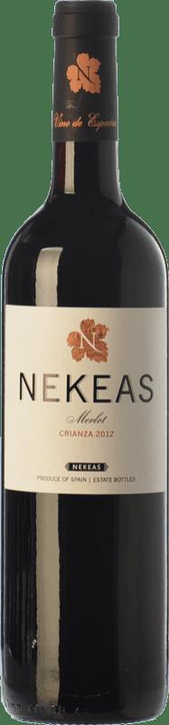 7,95 € Free Shipping | Red wine Nekeas Crianza D.O. Navarra Navarre Spain Merlot Bottle 75 cl