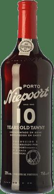 28,95 € Free Shipping | Fortified wine Niepoort 10 Years Old Tawny I.G. Porto Porto Portugal Touriga Franca, Touriga Nacional, Tinta Amarela, Tinta Cão, Sousão, Tinta Francisca Bottle 75 cl