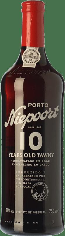 29,95 € Free Shipping | Fortified wine Niepoort 10 Years Old Tawny I.G. Porto Porto Portugal Touriga Franca, Touriga Nacional, Tinta Amarela, Tinta Cão, Sousão, Tinta Francisca Bottle 75 cl