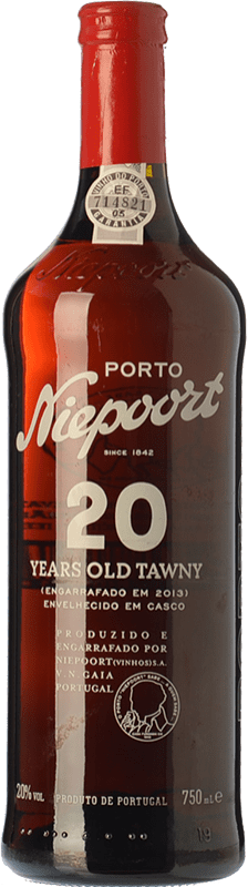 59,95 € Free Shipping | Fortified wine Niepoort 20 Years Old Tawny I.G. Porto Porto Portugal Touriga Franca, Touriga Nacional, Tinta Amarela, Tinta Cão, Sousão, Tinta Francisca Bottle 75 cl
