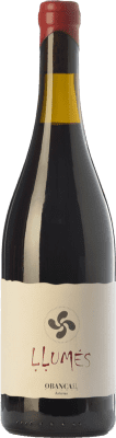 16,95 € Free Shipping | Red wine Obanca Llumés Crianza Spain Verdejo Black Bottle 75 cl