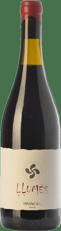 14,95 € Free Shipping   Red wine Obanca Llumés Crianza Spain Verdejo Black Bottle 75 cl
