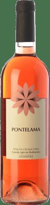 14,95 € Free Shipping | Rosé wine Ognissole Pontelama D.O.C. Castel del Monte Puglia Italy Nero di Troia Bottle 75 cl