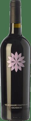 12,95 € Free Shipping | Red wine Ognissole I.G.T. Salento Campania Italy Negroamaro Bottle 75 cl