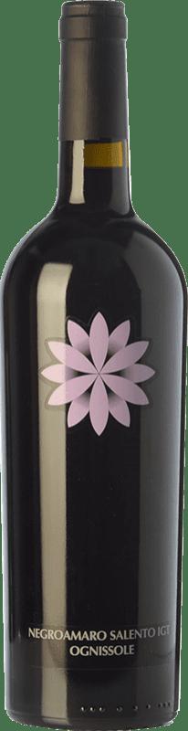 9,95 € Envío gratis | Vino tinto Ognissole I.G.T. Salento Campania Italia Negroamaro Botella 75 cl