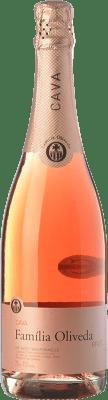 6,95 € Envoi gratuit | Rosé moussant Oliveda Rosat Brut Joven D.O. Cava Catalogne Espagne Grenache, Pinot Noir Bouteille 75 cl