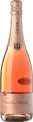 6,95 € Kostenloser Versand | Rosé Sekt Oliveda Rosat Brut Joven D.O. Cava Katalonien Spanien Grenache, Pinot Schwarz Flasche 75 cl