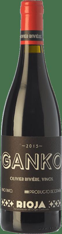 37,95 € Free Shipping | Red wine Olivier Rivière Ganko Crianza D.O.Ca. Rioja The Rioja Spain Grenache, Mazuelo Bottle 75 cl