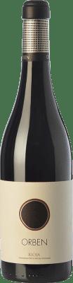 18,95 € Kostenloser Versand | Rotwein Orben Crianza D.O.Ca. Rioja La Rioja Spanien Tempranillo, Graciano Flasche 75 cl