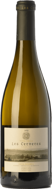 19,95 € Envío gratis | Vino blanco Oriol Rossell Les Cerveres Crianza D.O. Penedès Cataluña España Xarel·lo Botella 75 cl