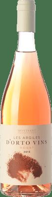 9,95 € Free Shipping | Rosé wine Orto Les Argiles Rosat D.O. Montsant Catalonia Spain Grenache Bottle 75 cl