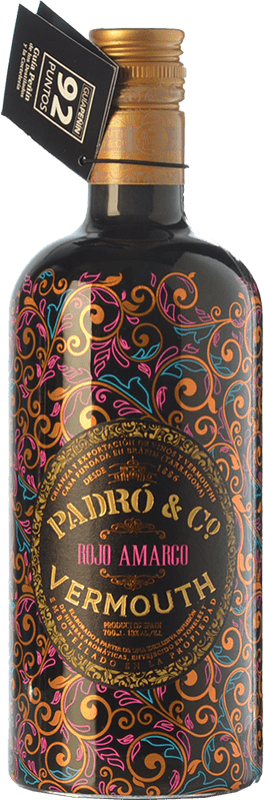 18,95 € Free Shipping | Vermouth Padró Rojo Amargo Catalonia Spain Bottle 70 cl