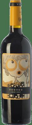 5,95 € Kostenloser Versand | Rotwein Casa del Blanco Veoveo Joven I.G.P. Vino de la Tierra de Castilla Kastilien-La Mancha Spanien Tempranillo Flasche 75 cl