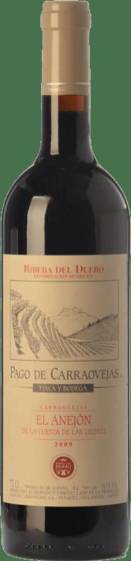 77,95 € Envoi gratuit | Vin rouge Pago de Carraovejas El Anejón Crianza 2009 D.O. Ribera del Duero Castille et Leon Espagne Tempranillo, Merlot, Cabernet Sauvignon Bouteille 75 cl