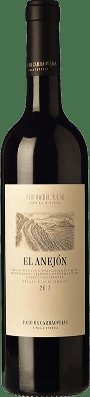 84,95 € Spedizione Gratuita | Vino rosso Pago de Carraovejas El Anejón Crianza D.O. Ribera del Duero Castilla y León Spagna Tempranillo, Merlot, Cabernet Sauvignon Bottiglia 75 cl