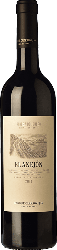79,95 € Envío gratis | Vino tinto Pago de Carraovejas El Anejón D.O. Ribera del Duero Castilla y León España Tempranillo, Merlot, Cabernet Sauvignon Botella 75 cl