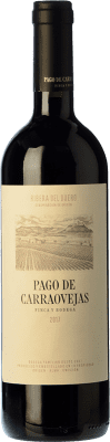 36,95 € Бесплатная доставка | Красное вино Pago de Carraovejas Crianza D.O. Ribera del Duero Кастилия-Леон Испания Tempranillo, Merlot, Cabernet Sauvignon бутылка 75 cl | Тысячи любителей вина уверены, что у нас гарантирована лучшая цена, всегда поставляются бесплатно и покупают и возвращают без осложнений.