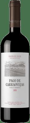37,95 € Envío gratis | Vino tinto Pago de Carraovejas Crianza D.O. Ribera del Duero Castilla y León España Tempranillo, Merlot, Cabernet Sauvignon Botella 75 cl