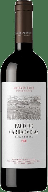 43,95 € Spedizione Gratuita | Vino rosso Pago de Carraovejas Crianza D.O. Ribera del Duero Castilla y León Spagna Tempranillo, Merlot, Cabernet Sauvignon Bottiglia 75 cl