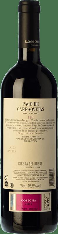36,95 € 送料無料 | 赤ワイン Pago de Carraovejas Crianza D.O. Ribera del Duero カスティーリャ・イ・レオン スペイン Tempranillo, Merlot, Cabernet Sauvignon ボトル 75 cl | 何千ものワイン愛好家が最高の価格を保証し、常に無料で出荷し、購入して合併症を起こすことなく返品します.