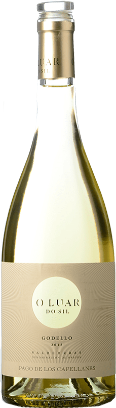 12,95 € Free Shipping | White wine Pago de los Capellanes O Luar Do Sil D.O. Valdeorras Galicia Spain Godello Bottle 75 cl