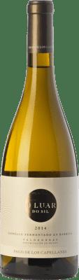 27,95 € Kostenloser Versand | Weißwein Pago de los Capellanes O Luar Do Sil Fermentado en Barrica Crianza D.O. Valdeorras Galizien Spanien Godello Flasche 75 cl