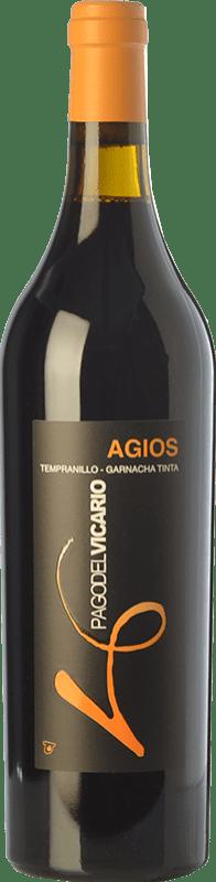 16,95 € Envoi gratuit | Vin rouge Pago del Vicario Agios Crianza I.G.P. Vino de la Tierra de Castilla Castilla La Mancha Espagne Tempranillo, Grenache Bouteille 75 cl