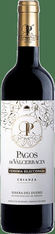 14,95 € Envío gratis | Vino tinto Pagos de Valcerracín Crianza D.O. Ribera del Duero Castilla y León España Tempranillo Botella 75 cl