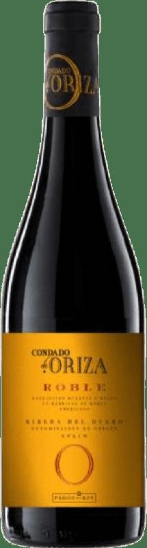 7,95 € Free Shipping | Red wine Pagos del Rey Condado de Oriza Roble D.O. Ribera del Duero Castilla y León Spain Tempranillo Bottle 75 cl