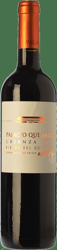 8,95 € Envío gratis | Vino tinto Palacio Quemado Crianza D.O. Ribera del Guadiana Extremadura España Tempranillo, Cabernet Sauvignon Botella 75 cl