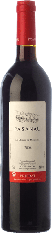 22,95 € Free Shipping | Red wine Pasanau La Morera de Montsant Crianza D.O.Ca. Priorat Catalonia Spain Merlot, Grenache, Carignan Bottle 75 cl