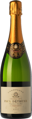 45,95 € Free Shipping | White sparkling Paul Déthune Grand Cru Brut Joven A.O.C. Champagne Champagne France Chardonnay, Pinot Meunier Bottle 75 cl | Thousands of wine lovers trust us to get the best price guarantee, free shipping always and hassle-free shopping and returns.
