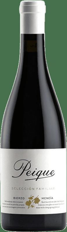 31,95 € Envío gratis | Vino tinto Peique Selección Familiar Crianza D.O. Bierzo Castilla y León España Mencía Botella 75 cl
