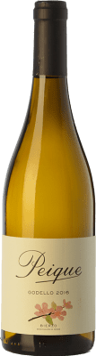 9,95 € Free Shipping | White wine Peique sobre Lías D.O. Bierzo Castilla y León Spain Godello Bottle 75 cl