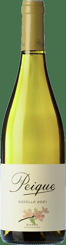 7,95 € Free Shipping | White wine Peique sobre Lías D.O. Bierzo Castilla y León Spain Godello Bottle 75 cl