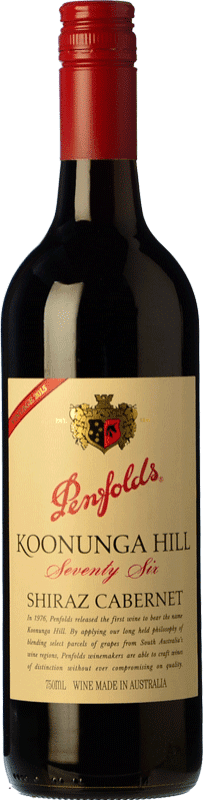 15,95 € Envío gratis | Vino tinto Penfolds Koonunga Hill Seventy Six Joven I.G. Southern Australia Southern Australia Australia Syrah, Cabernet Sauvignon Botella 75 cl