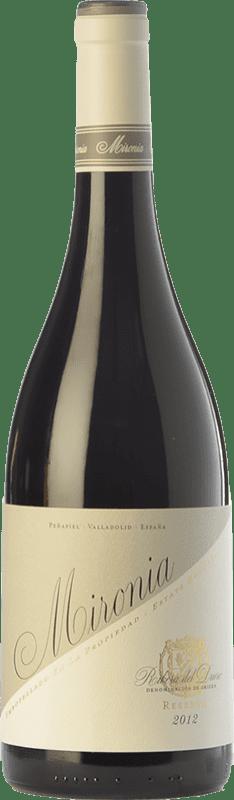 22,95 € Envoi gratuit | Vin rouge Peñafiel Mironia Reserva D.O. Ribera del Duero Castille et Leon Espagne Tempranillo Bouteille 75 cl