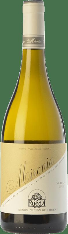 9,95 € Envío gratis | Vino blanco Peñafiel Mironia D.O. Rueda Castilla y León España Verdejo Botella 75 cl