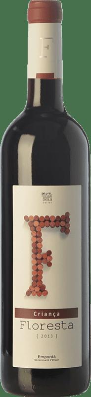 5,95 € Envío gratis | Vino tinto Pere Guardiola Floresta Criança Crianza D.O. Empordà Cataluña España Merlot, Garnacha, Cabernet Sauvignon Botella 75 cl