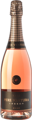 17,95 € Free Shipping | Rosé sparkling Pere Ventura Tresor Rosé Brut Reserva D.O. Cava Catalonia Spain Trepat Bottle 75 cl | Thousands of wine lovers trust us to get the best price guarantee, free shipping always and hassle-free shopping and returns.