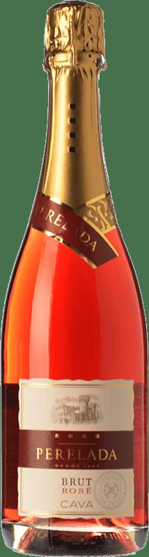 6,95 € Envoi gratuit | Rosé moussant Perelada Rosé Brut D.O. Cava Catalogne Espagne Grenache, Pinot Noir, Trepat Bouteille 75 cl