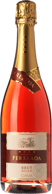 7,95 € Free Shipping | Rosé sparkling Perelada Rosé Brut D.O. Cava Catalonia Spain Grenache, Pinot Black, Trepat Bottle 75 cl