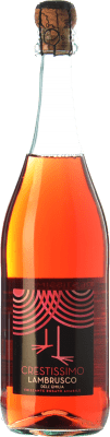 4,95 € Free Shipping | Rosé sparkling Perelada Crestissimo Rosato Joven I.G.T. Emilia Romagna Emilia-Romagna Italy Lambrusco Bottle 75 cl. | Thousands of wine lovers trust us to get the best price guarantee, free shipping always and hassle-free shopping and returns.