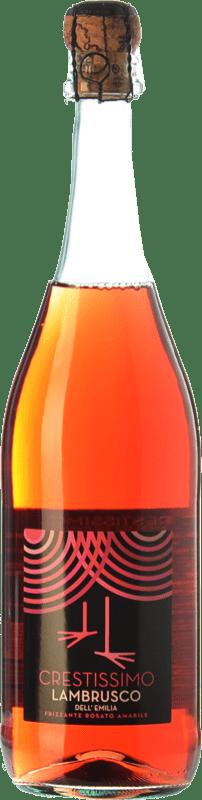 5,95 € Free Shipping | Rosé sparkling Perelada Crestissimo Rosato Joven I.G.T. Emilia Romagna Emilia-Romagna Italy Lambrusco Bottle 75 cl