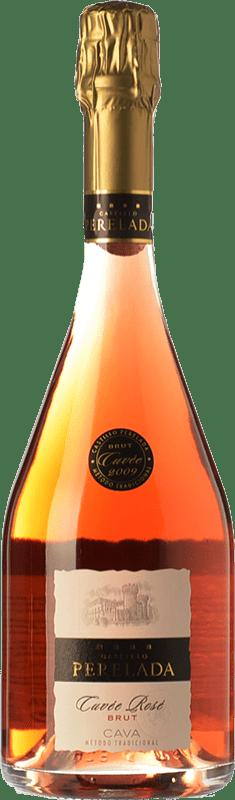 15,95 € Free Shipping | Rosé sparkling Perelada Cuvée Rosé Brut D.O. Cava Catalonia Spain Trepat Bottle 75 cl