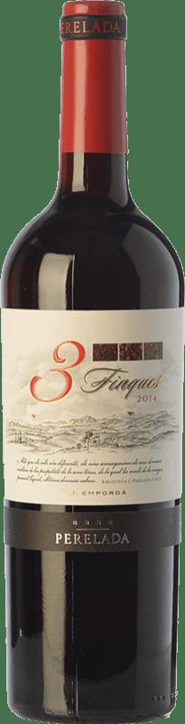 5,95 € Free Shipping | Red wine Perelada 3 Fincas Crianza D.O. Empordà Catalonia Spain Tempranillo, Merlot, Syrah, Grenache, Cabernet Sauvignon, Samsó Bottle 75 cl